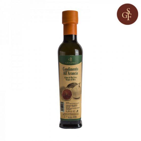 Olio extravergine di oliva aromatizzato ( AGRUMETATO ) all'arancia